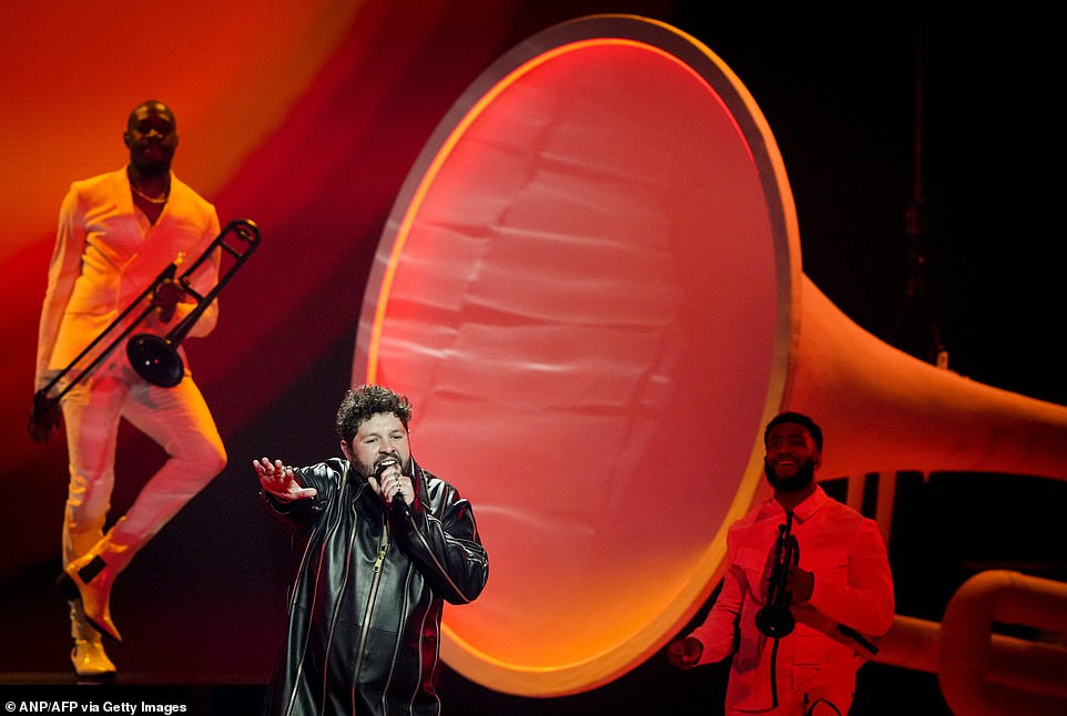 This week, the UK's Eurovision 2021 hopeful James Newman was full of confidence as he belted out his track Embers while working the stage during the first dress rehearsal show at the Rotterdam Ahoy arena