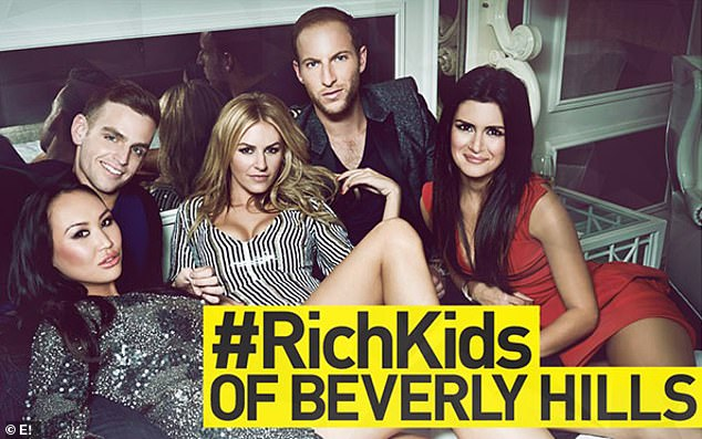 Well off group:The daughter of billionaire property mogul Roger Wang, Dorothy (lower left) was propelled into the spotlight after starring on E! reality series, Rich Kids Of Beverly Hills