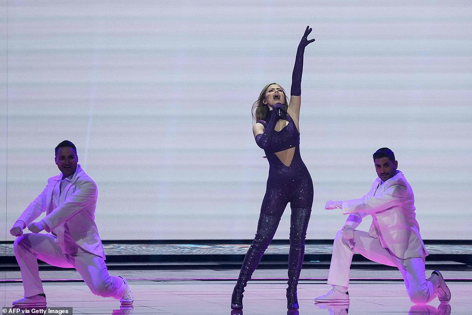 Greece's Stefania performs during the final of the 65th edition of the Eurovision Song Contest in Rotterdam