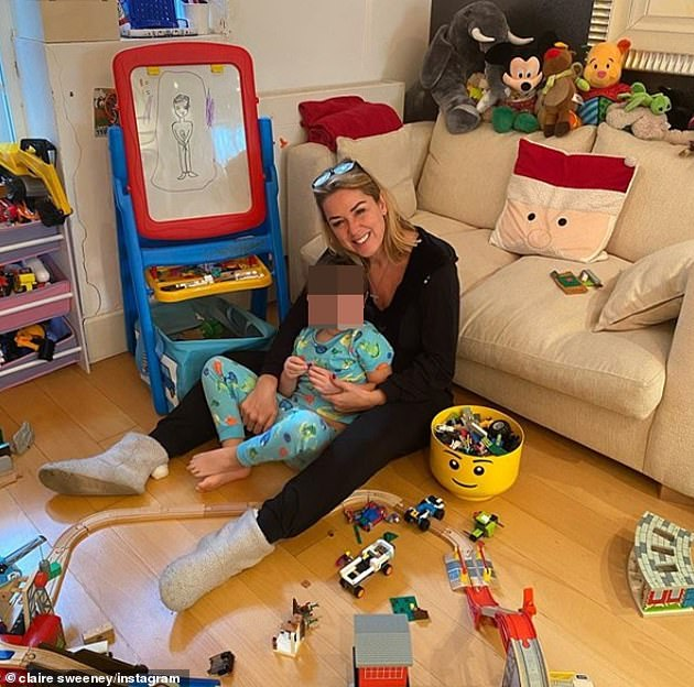 Tricky times: The star, who is the mother to son Jaxon, six, recently revealed that despite the challenges of the past year, she 'couldn't be happier'