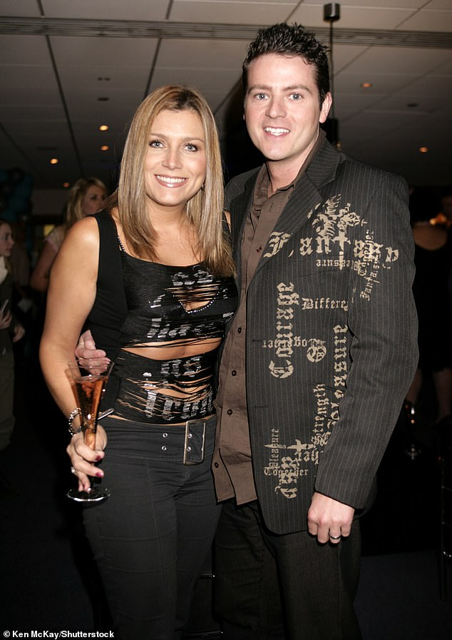 Split: Heartbeat star Tricia Penrose and husband Mark Simpkin are believed to have split after 18 years of marriage (pictured together in 2005)