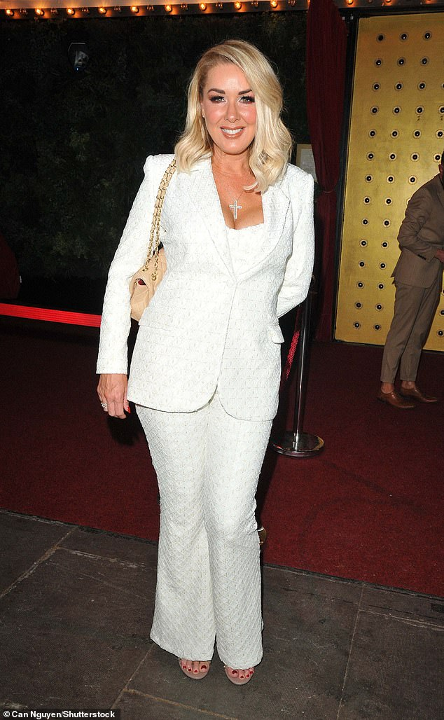 Chic:Creating the perfect silhouette, Claire's suit jacket blew out at the hips and her wide-leg trousers complimented her body shape