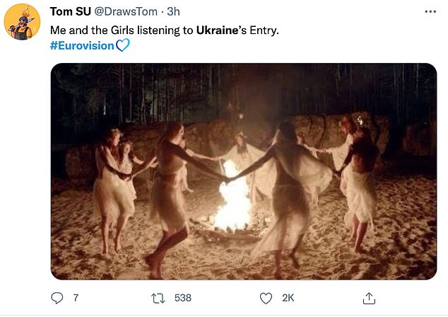 Some fans noted the strange hypnotic undertones of Ukraine's Eurovision entry, with one viewer claiming 'they had no idea what was going on'