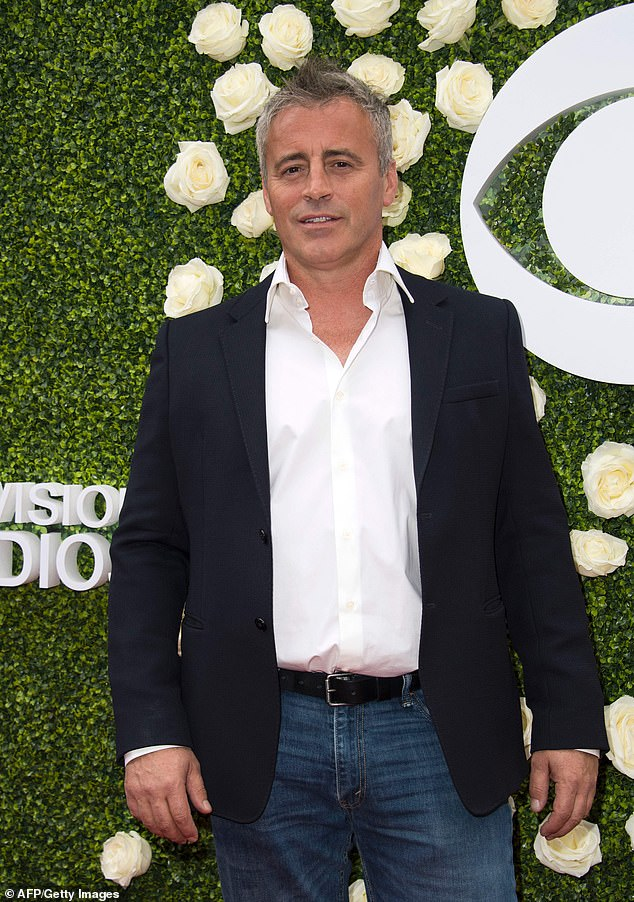 Estranged: Friends star Matt Le Blanc's father Paul claims he has not spoken to his son in nine years after a dispute over money and a motorbike, which led to their estrangement; seen in 2017
