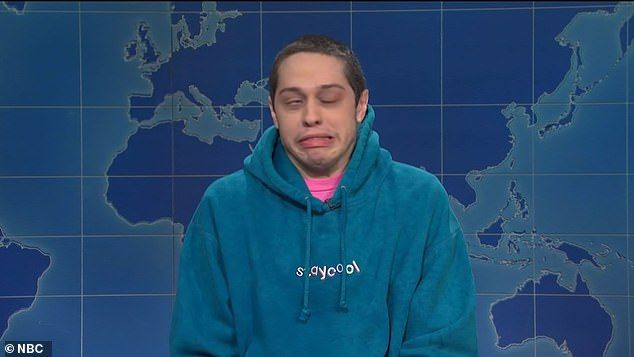 'If there's one good thing about the pandemic besides getting Chrissy Teigen out of our lives…' the comedian, 27, joked during the series' often political Weekend Update segment