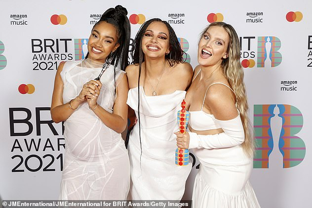 Grilled: It comes after Mollie's Radio 1 co-host Matt Edmondson grilled Little Mix's Perrie Edwards over the band's BRITs award acceptance speech last Sunday