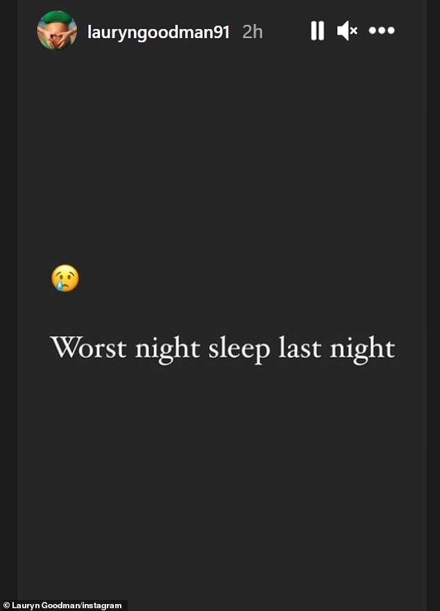 Bad night's sleep: By Sunday afternoon, she admitted to not having slept well the night before
