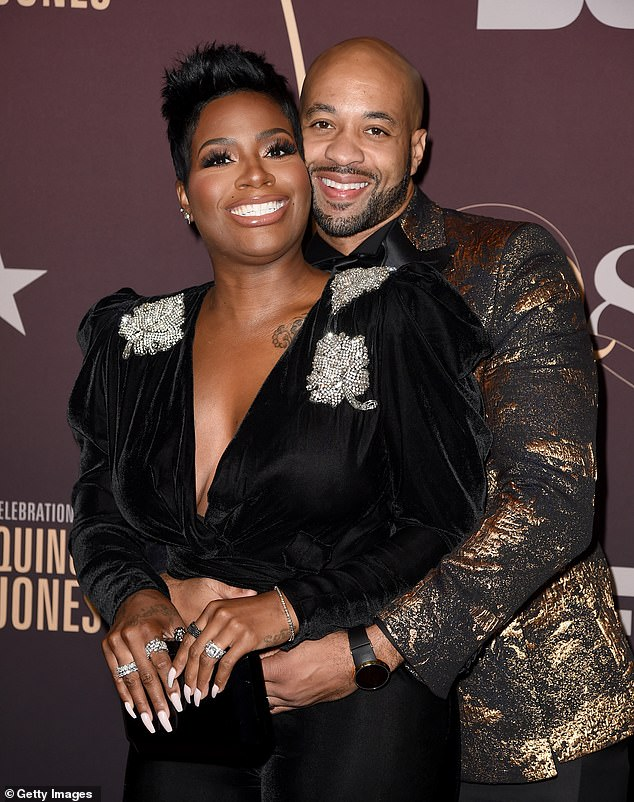Couple: Fantasia, who has two sons from previous relationships, married Kendall Taylor in 2015 (pictured September 2018)