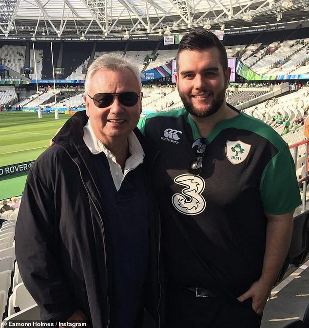 All grown up: Declan is now grown up, but he and dad Eamonn still enjoy sports together