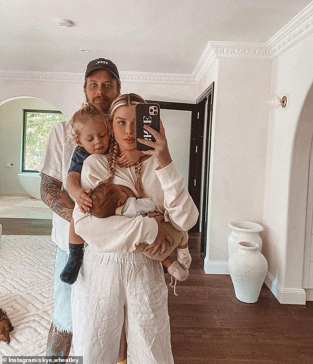 Keeping mum: In addition to Bear, Skye is also mother to a two-year-old son, Forest, who she shares with boyfriend of four years, tradesman Lachlan Waugh