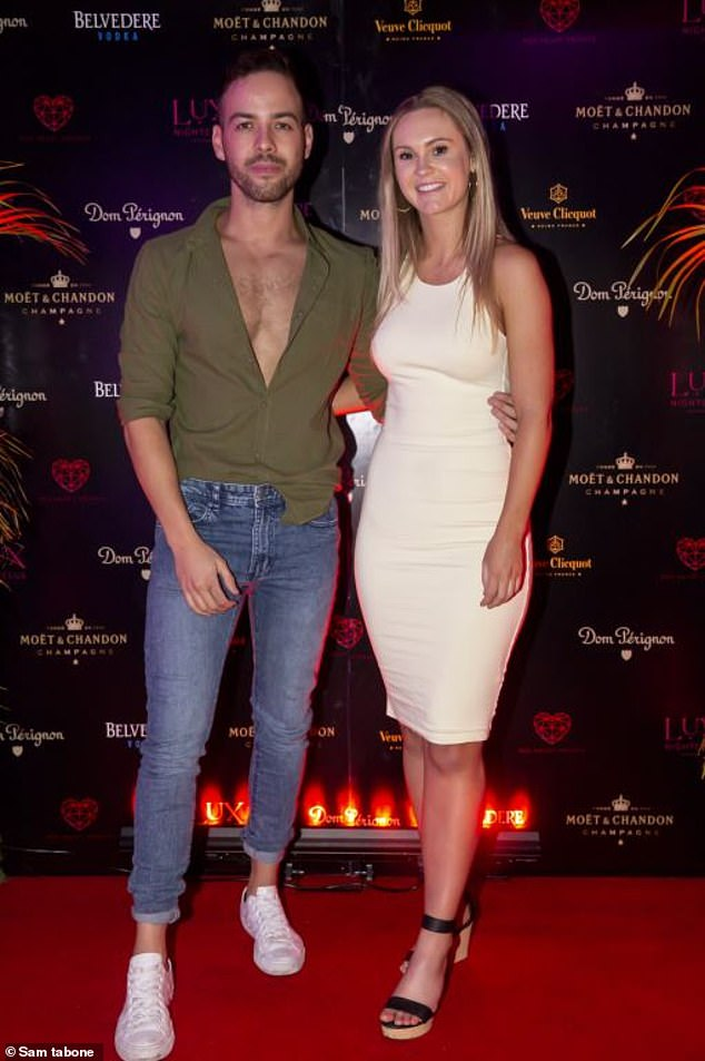Famous friend:Chelsie also posed alongside her good friend, Married At First Sight New Zealand contestant, Samuel Levi (left)