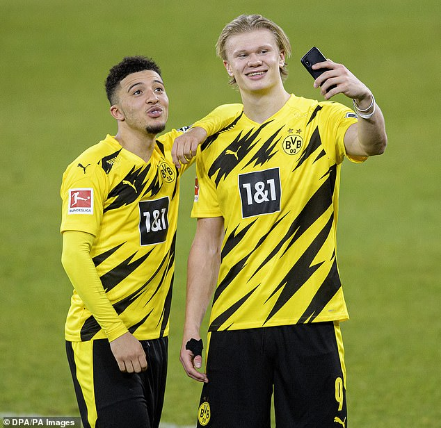 Borussia Dortmund pair Jadon Sancho (left) and Erling Haaland (right) will be among world football's most sought-after players this summer