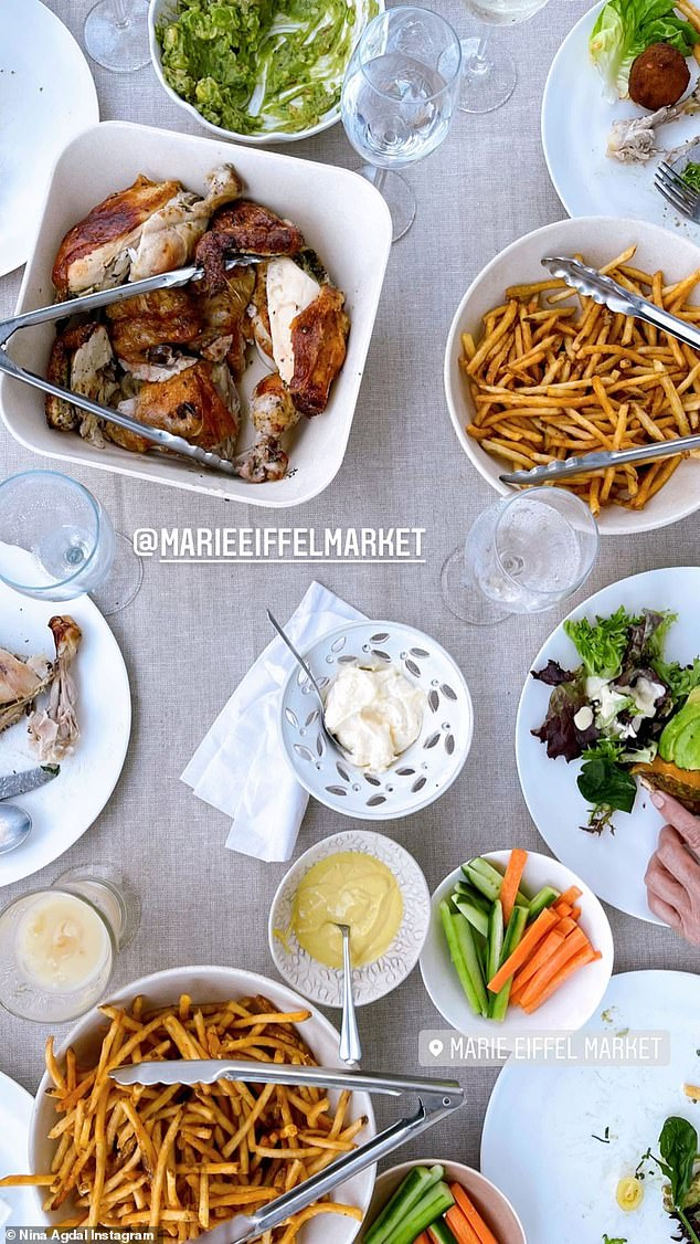 The lunch looked grand: The family dined at Marie Eiffel Market in Sag Harbor