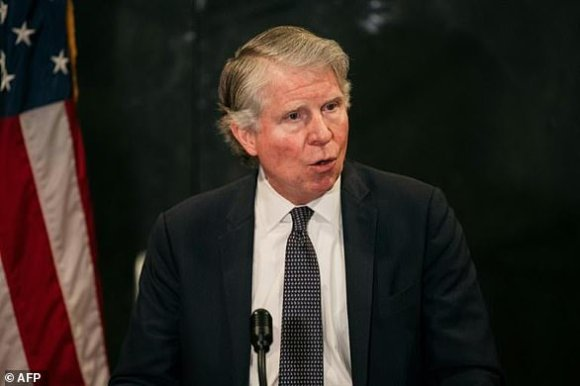 Manhattan District Attorney Cyrus Vance (pictured May 2020) has doggedly pursued Donald Trump, winning a years-long battle to obtain his tax records and deploying significant human and financial resources to the politically sensitive investigation
