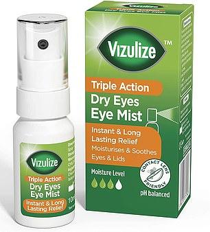 Vizulize Triple Action Dry Eyes Eye Mist, £7.69 for 10ml, amazon.co.uk