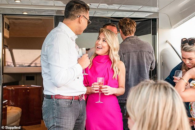 Enjoying the single life! Married At First Sight's Jaimie Gardner flirted up a storm at a singles event in Sydney on Saturday after she failed to find love with Chris Jensen