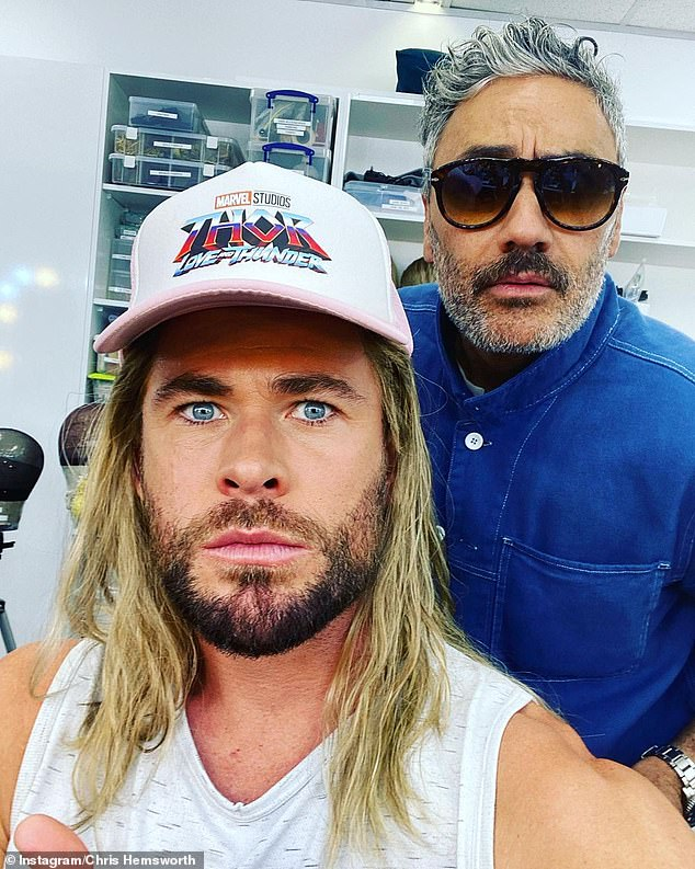 Next instalment: He is currently filming in Sydney alongside megastar Natalie Portman. The film is being directed by Taika Waititi (R)