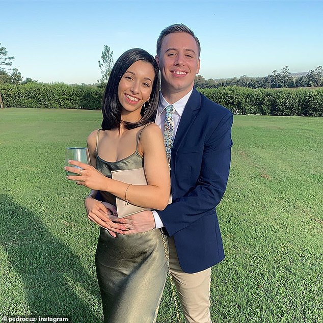 The instigator: KIIS FM staffer Pedro Cuccovillo Vitola (pictured with his wife Patty) claimed on Tuesday to have done 'extensive research' into what Western Sydney women want, having lived there his whole life. Listener Layla from Fairfield was not happy
