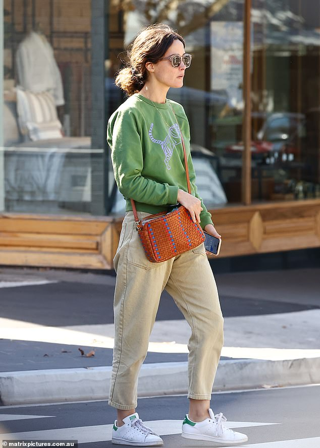 """Nice day""""On Tuesday, the 41-year-old headed out to a café with a friend in Sydney's upmarket suburb of Woollahra"""