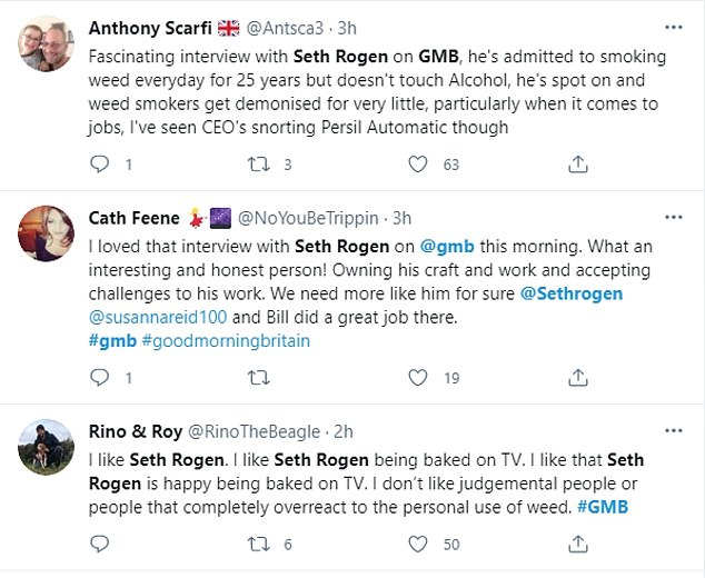 Speaking out:Viewers soon flooded Twitter to praise his views of drugs and alcohol