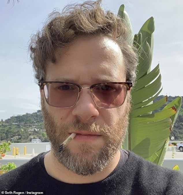 Honest: Seth often discusses his drug use and shares details on social media (pictured in February 2019)