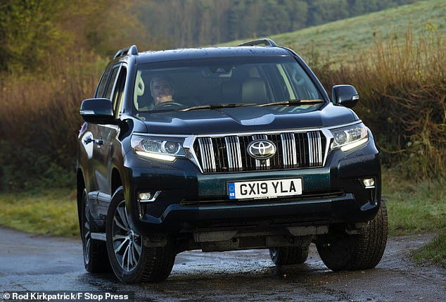 The hulking Toyota Land Cruiser retains a staggering 72% of its original value after three years - more than any other new mainstream model in showrooms currently