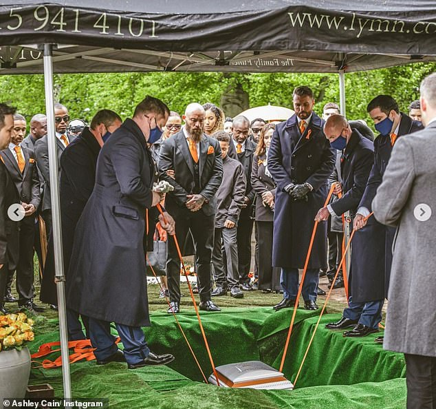 Family:Earlier in the day, the television personality shared a number of photos from Azaylia Day- her funeral- as he thanked his friends and family for their ongoing support