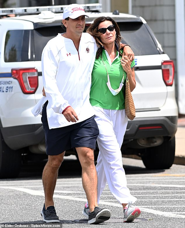 Love in the afternoon:Luann de Lesseps was seen with her new boyfriend, former football player Radamez Rubio Gaytan, in the Hamptons this week
