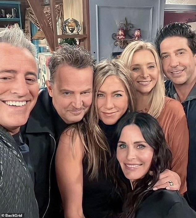Selfie on set: Matt LeBlanc took this image with all of the Friends cast members