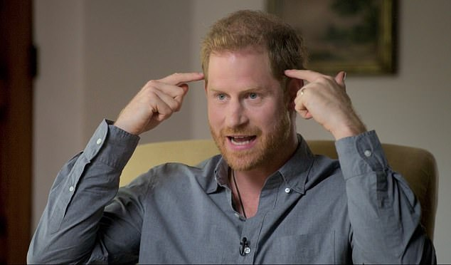Talking: Most recently Prince Harry accused his father Prince Charles of making him 'suffer' as a child in his new AppleTV+ five-part show The Me You Can't See