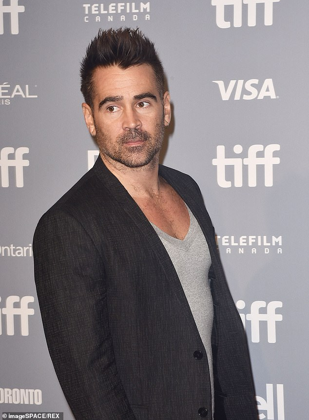 Pamper day: Farrell made the most of his time off from shooting new movie Thirteen Lives on the Gold Coast last week. Pictured at theToronto Film Festival in September 2018