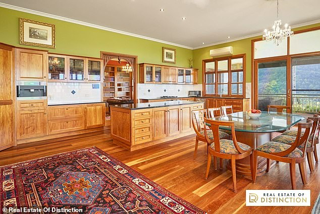 Pricey pad: The four-bedroom estate in far north NSW has been listed with a price guide of between $3.2million and $3.5million