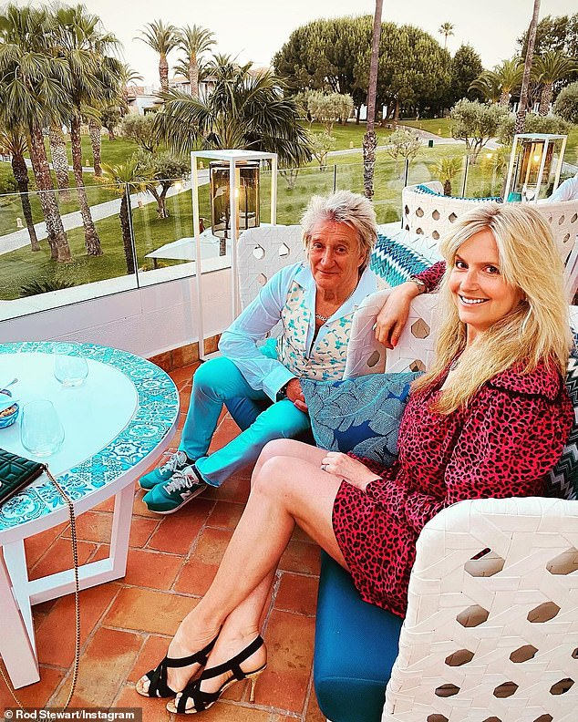 Stunning:Rod was staying at the luxury Villa Vita park resort in Portugal¿s Algarve with wife Penny Lancaster on a romantic break last month