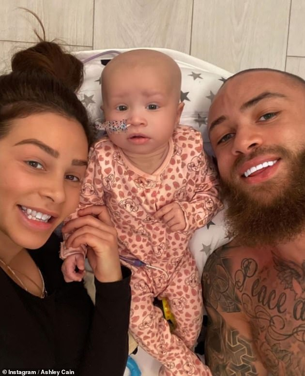Loss: Azaylia tragically passed away last month after spending most of her short life bravely battling acute myeloid leukemia