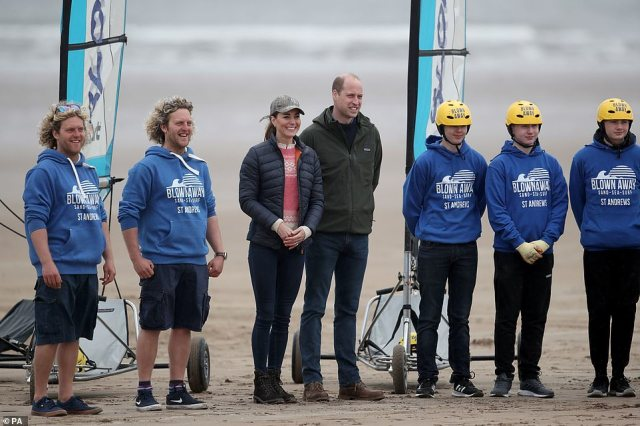 Important work: The royal couple were joined by a group from Fife Young Carers, which helps young carers maintain their well-being through a range of outdoor activities, workshops, and residential trips