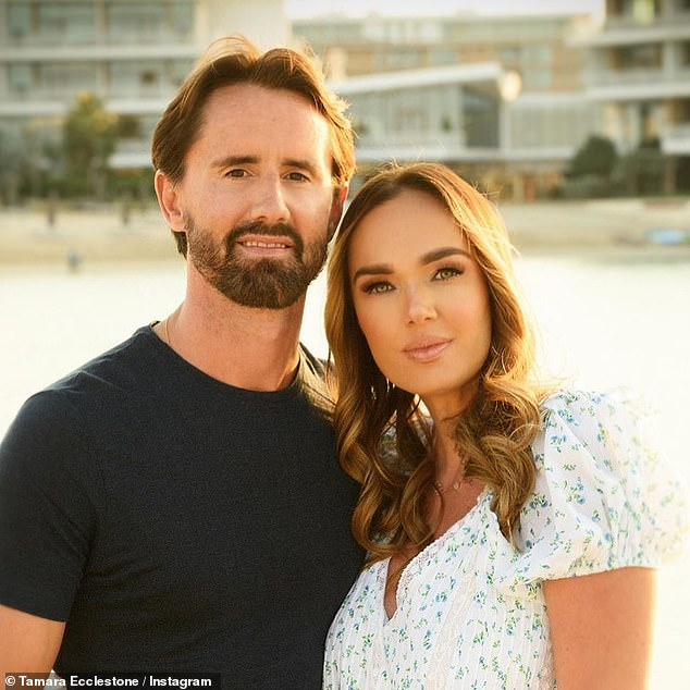Lighting the fuse:Rutland (pictured with wife Tamara) poked fun at the Duke of Sussex after he was filmed undergoing treatment for anxiety in his recent documentary, The Me You Can't See