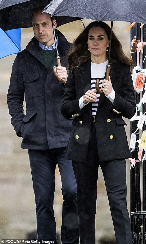 The Duke and Duchess of Cambridge at St Andrews today