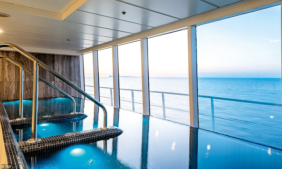 There is even an ocean-view infinity pool in the Marella Explorer spa