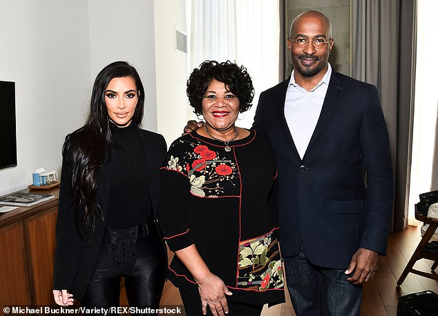 Kim Kardashian is pictured with Alice Johnson, whom she helped get released from prison