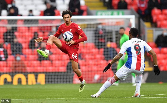 Alexander-Arnold impressed on the final day of the season as Liverpool clinched third place