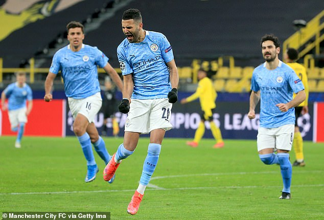 Riyad Mahrez, a wide forward, has been tucked inside to great effect at times this season