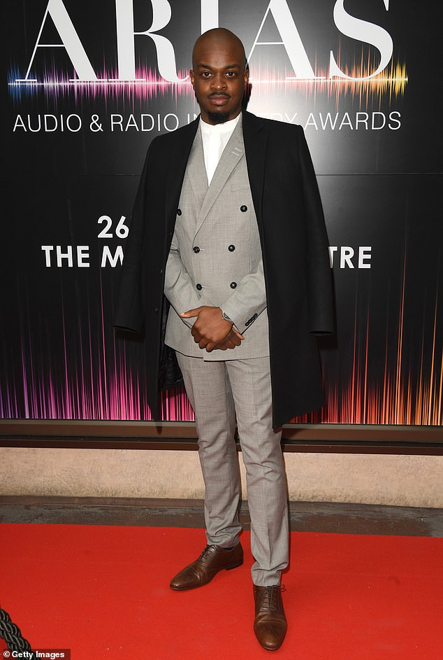 Bringing the drama: George the Poet provided style in the form of a dove grey suit and a black cape-like jacket