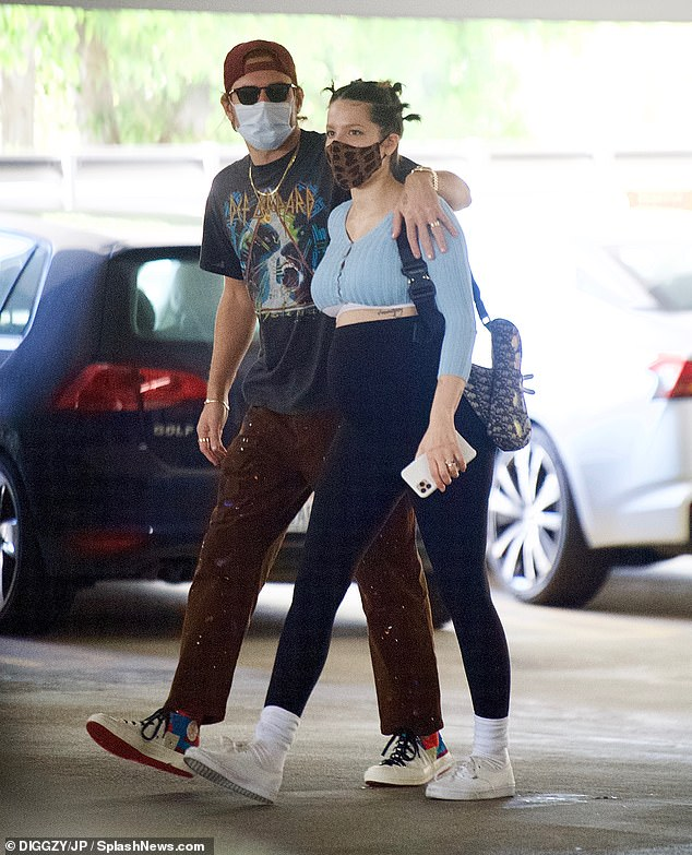 Wedding bells?Halsey sparked marriage rumors as she was spotted wearing matching wedding bands with beau Alev Aydin on Monday afternoon