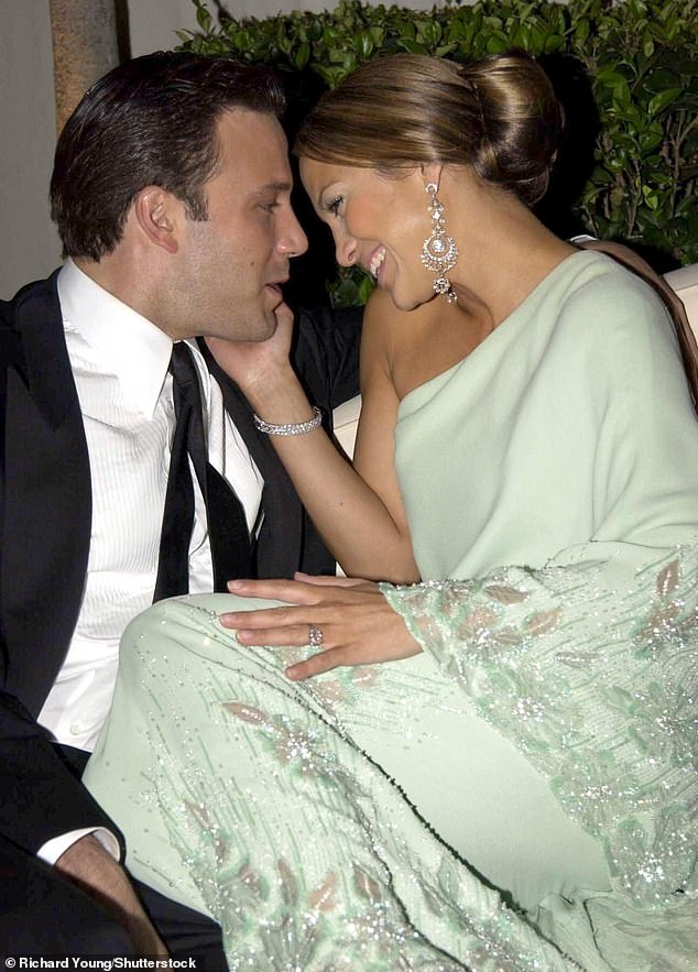 According to published reports, Ben Affleck started emailing Jennifer Lopez regularly in February. Pictured: The couple in 2003