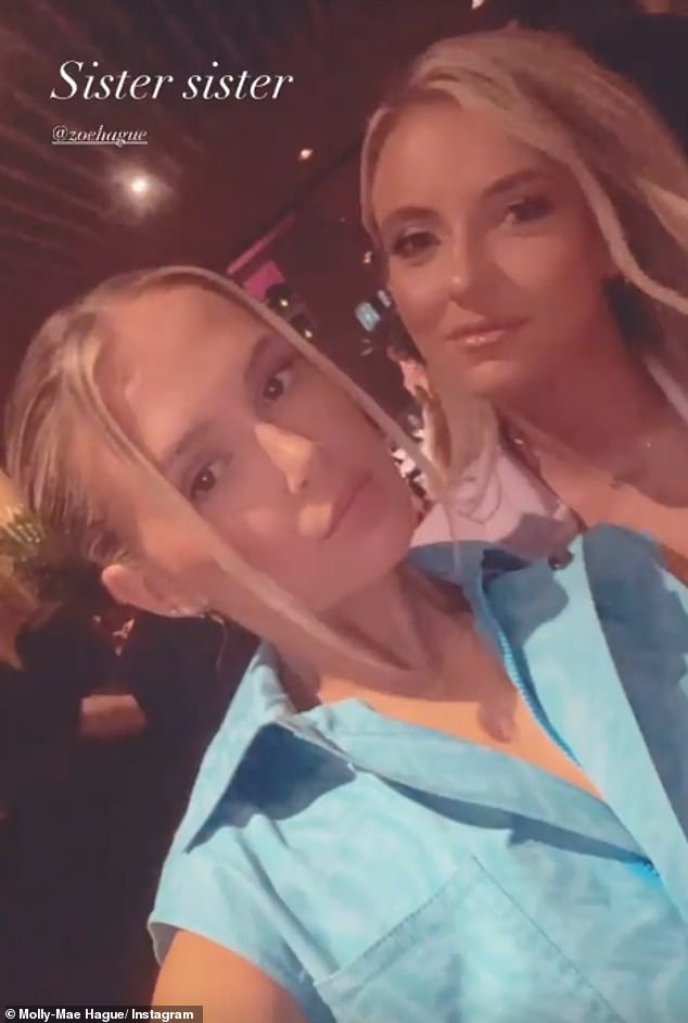 Cute:Molly-Mae shared a sweet selfie with her sister to Instagram during the celebrations