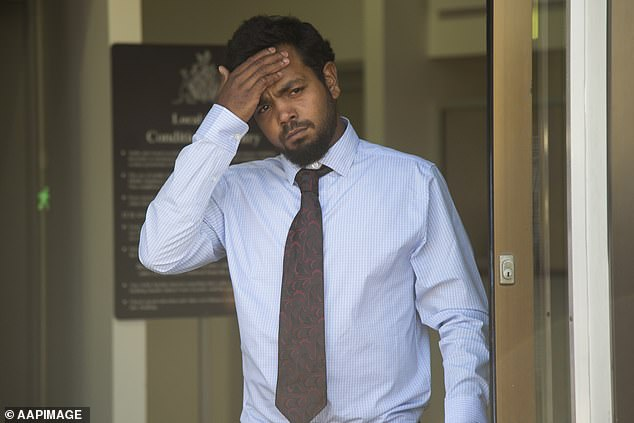 Bust: Rioli's future was in limbo after he was caught with 24.23g at Darwin Airport on April 23, and failed to inform the Eagles about the incident. He pleaded guilty to possession in a Darwin court, but he escaped conviction and was placed on a 12-month good behaviour bond