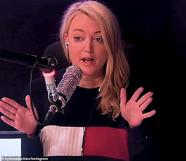 Changing her mind: The commentary comes after Jackie got into a heated discussion about the royals with her radio co-host Kyle Sandilands on Thursday, conceding she'd changed her mind about Meghan
