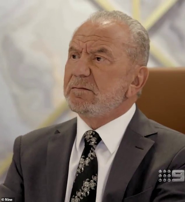 Acid-tongue: Lord Alan Sugar, 74, saved one of his most brutal takedowns for radio host Kyle Sandilands during an interview on The Kyle and Jackie O Show on Thursday