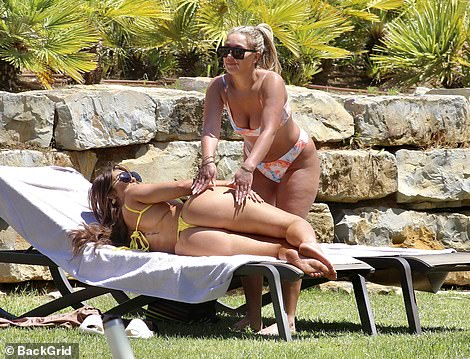 Stars abroad: Chloe hasjoined a collection of reality stars who have jetted off to the popular destination including Katie Price