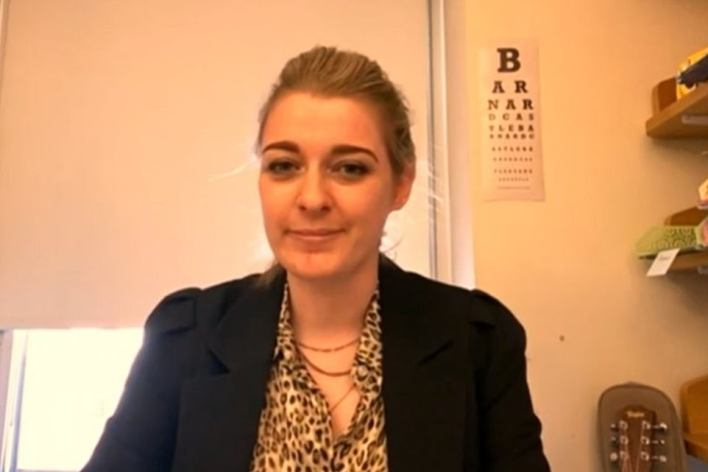 Red Wall MP Dehenna Davison also made her feelings clear earlier as she asked a question by video link with a 'Barnard Castle eye test' chart in the background